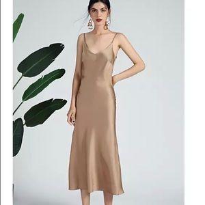Satin slip dress size xs